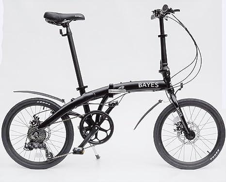 Bayes - Bicicleta plegable de aluminio, 20 pulgadas, 8 velocidades ...