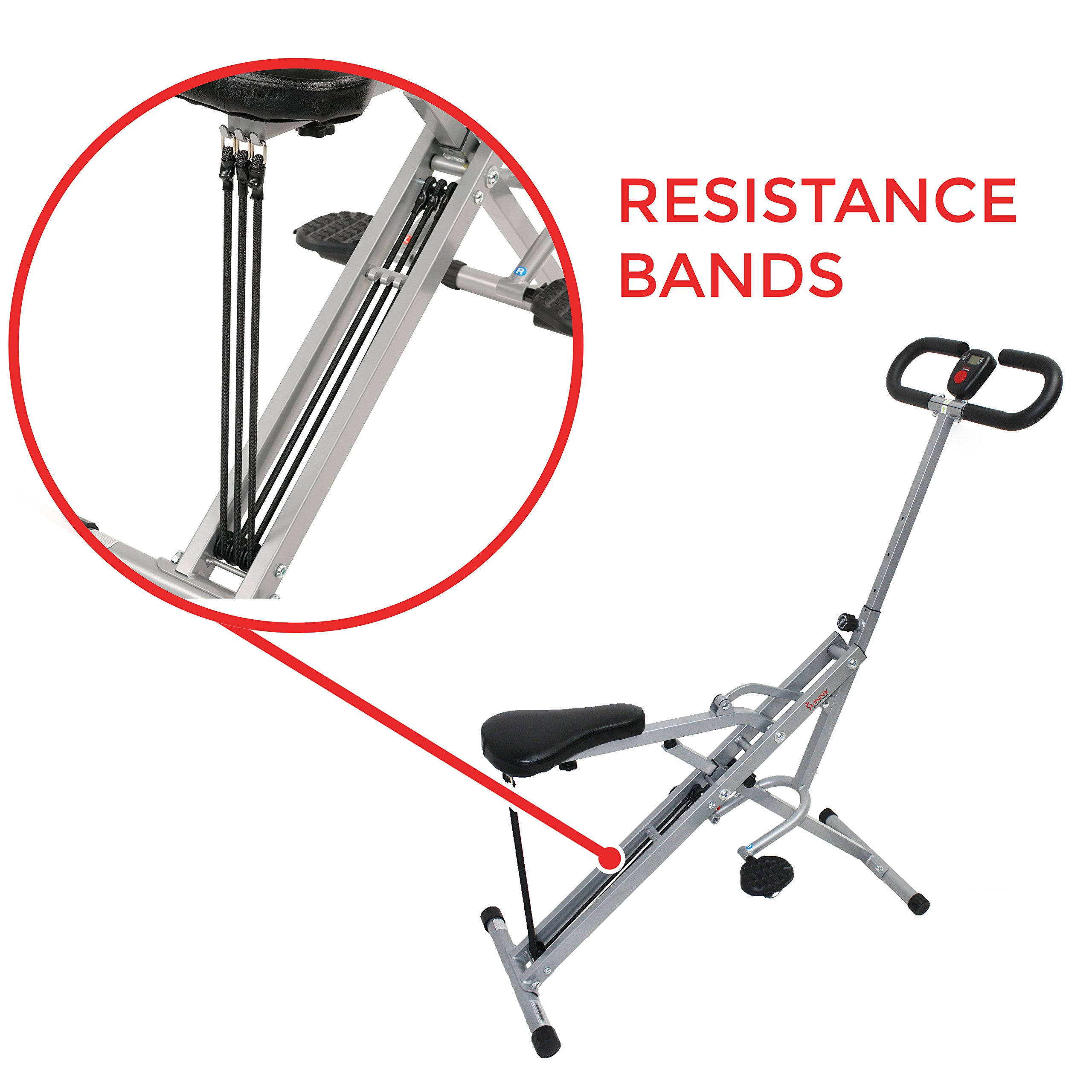Sunny Health & Fitness Squat Assist Row-N-Ride Trainer for Squat Exercise and Glutes Workout by Sunny Health & Fitness (Image #5)