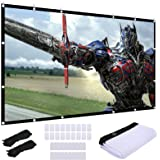 Video Projection Screen 120 inch, Washable 4K Projector Screen 16:9 HD Foldable Anti-Crease Portable Projector Movies Screen