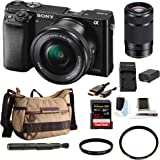 Sony Alpha a6000 Mirrorless Camera w/ 16-50mm & 55-210mm Lenses & 32GB SD Bundle