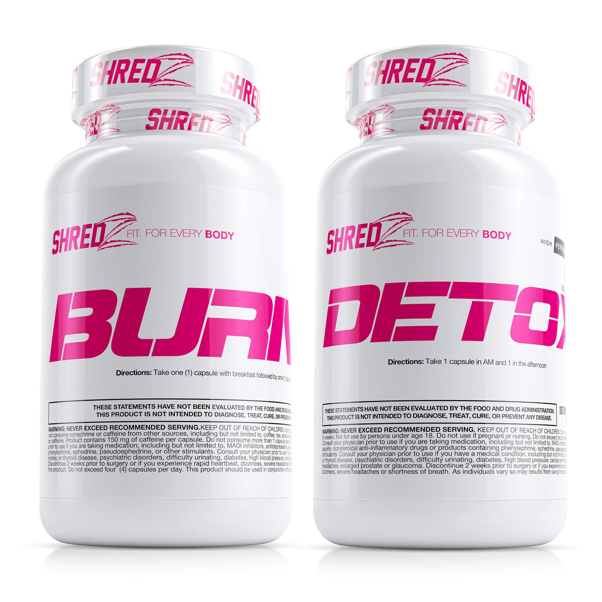 SHREDZ Sexy & Lean Supplement Stack for Women, Lose Weight, Burn Fat, Build Lean Muscle, Best Ingredients (30 Day Supply)