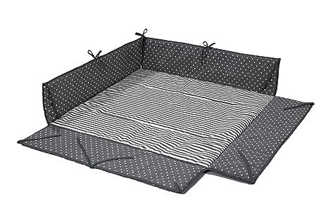 Geuther 2234LB - Parque y colchón para bebé. gris lunares ...
