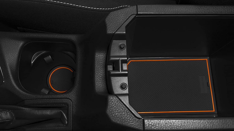 Orange Trim Premium Cup Holder CupHolderHero for Toyota RAV4 2014-2018 Custom Liner Accessories and Door Pocket Inserts 15-pc Set Center Console