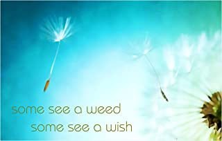 product image for Next Innovations Motivational Wall Art Some See A Weed Some See A Wish Wall Decor Panel