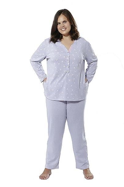 Pijama manga larga (talla 62) Tallas Grandes Mabel big&beauty