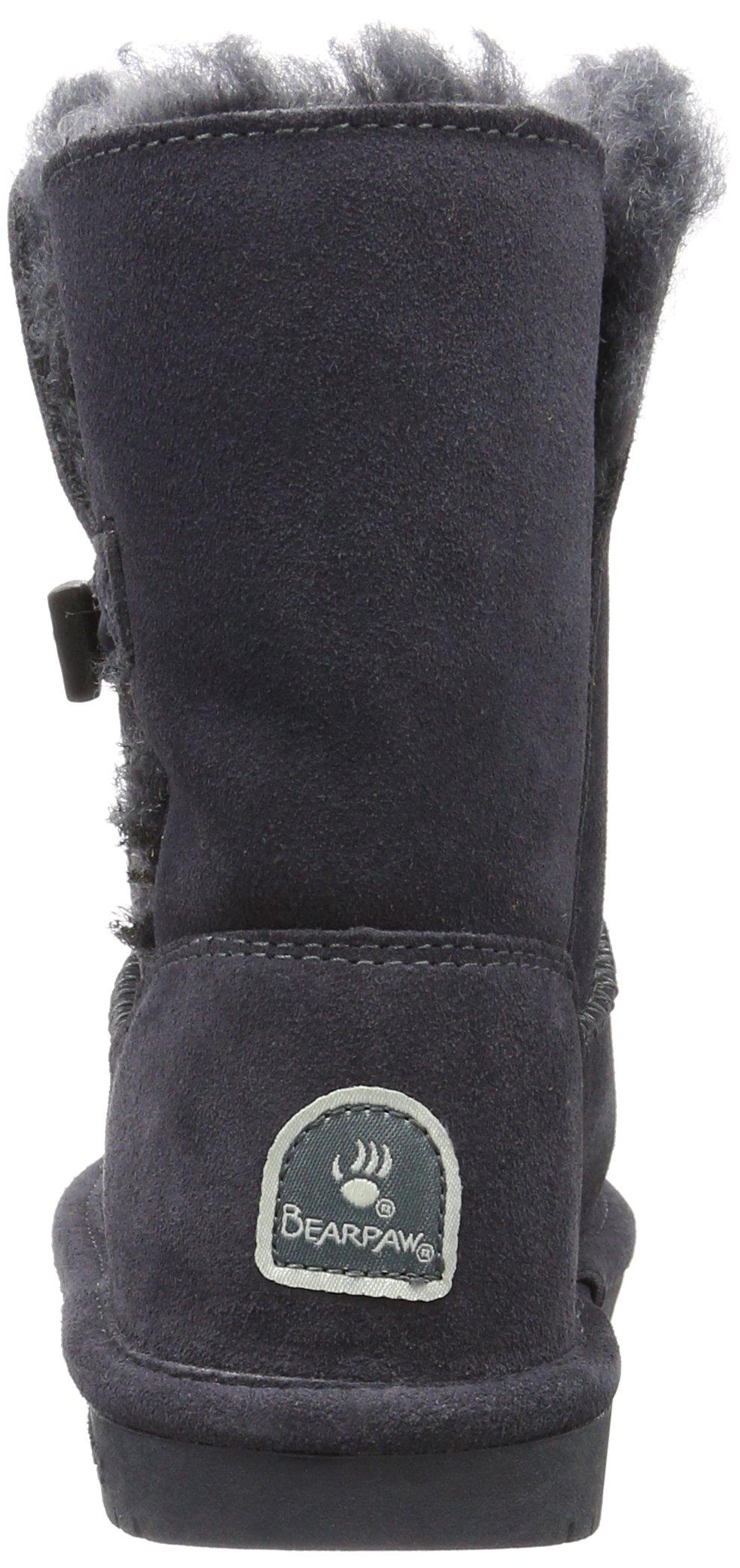Bearpaw Abigail Charcoal Unisex Kids Shearling Boot Size 1M by BEARPAW (Image #2)