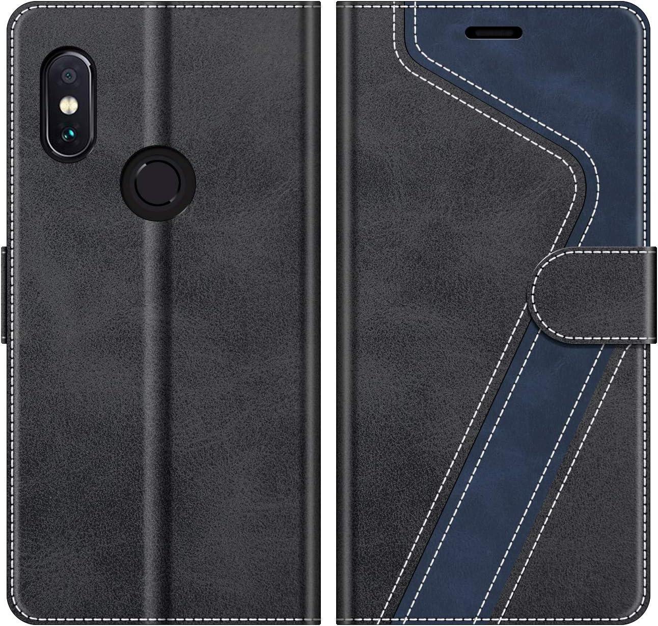 MOBESV Funda para Xiaomi Redmi Note 5, Funda Libro Xiaomi Redmi Note 5, Funda Móvil Xiaomi Redmi Note 5 Magnético Carcasa para Xiaomi Redmi Note 5 Funda con Tapa, Elegante Negro