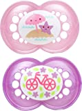 MAM Pearl Orthodontic Pacifier, Girl, 6+ Months, 2-Count