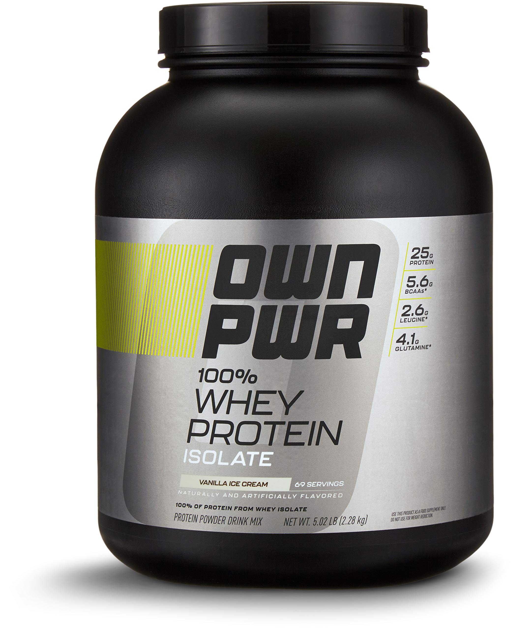 OWN PWR 100% Whey Protein Isolate Powder, Vanilla Ice Cream, 25 G Protein, 5 Pound Value Size (69 Servings) by OWN PWR