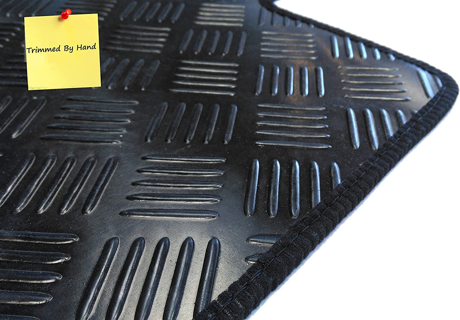 Connected Essentials CEM300 Civic//Civic Tourer 2013- Black with Black Trim 3mm Rubber Diesel Car Mat Set