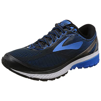 046b86da00d Brooks Men s Ghost 10 Ebony Metallic Charcoal Electric Brooks Blue 10.5 EE  US
