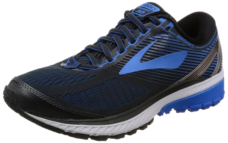 Brooks Ghost 10 - Zapatillas de Running para Hombre 13 B US|Ebony/Metallic Charcoal/Electric Brooks Blue