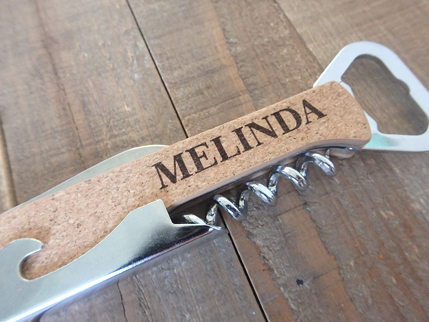 Custom Engraved personalized gifts Cork screw Wine bottle opener