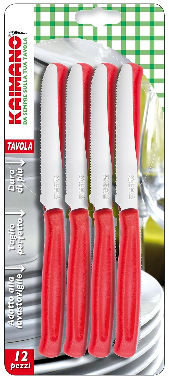 Kaimano Dynamic 12 Table Knife, Stainless Steel, Red, 28 x 10 x 2 cm Fiskars KDN041512R