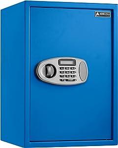 AdirOffice Security Safe with Digital Lock (2.32 Cubic Feet, Blue)