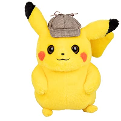 "Pokémon Detective Pikachu Movie Plush Stuffed Animal Toy - 8"" - Ages 2+: Toys & Games"