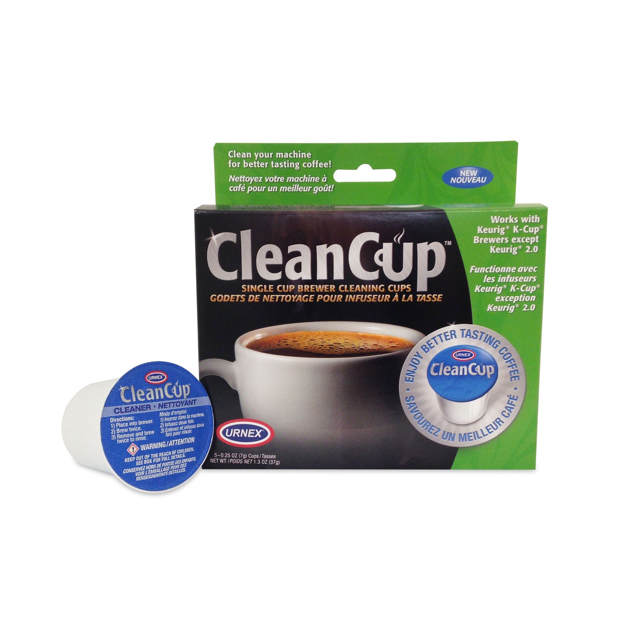 Urnex K-Cup Coffee Maker Cleaner - 5 Pods - Coffee Cleaner Use With Keurig and K Cup Machines