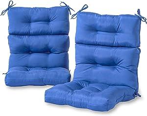 Greendale Home Fashions Outdoor High Back Chair Cushion (set of 2), Marine