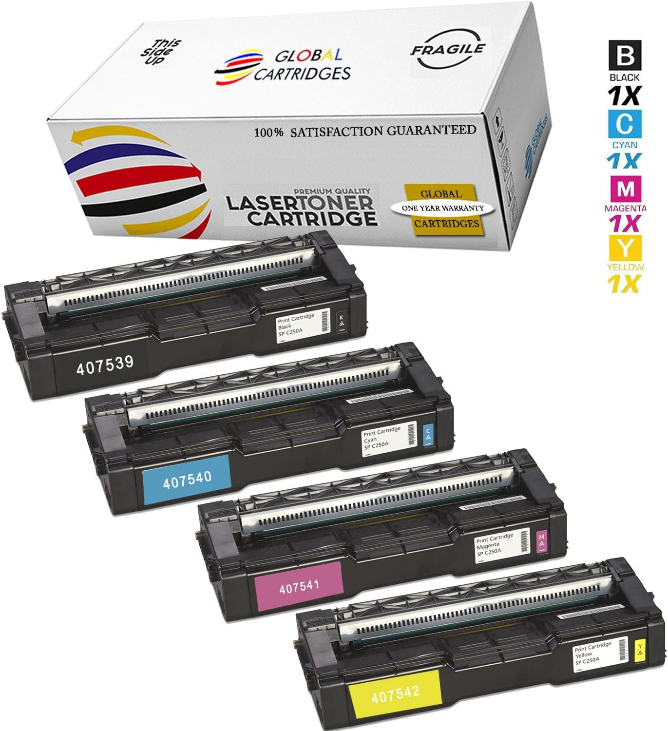 C261SFN Printer Cartridge Compatible SP C250DN High Capacity Magenta 1-Pack C250SF Replacement for Ricoh 407541 Color Toner Cartridge