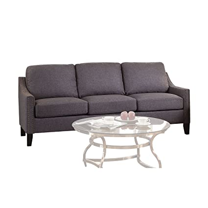 ACME Furniture Acme 53755 Zapata Junior Sofa, Gray Linen