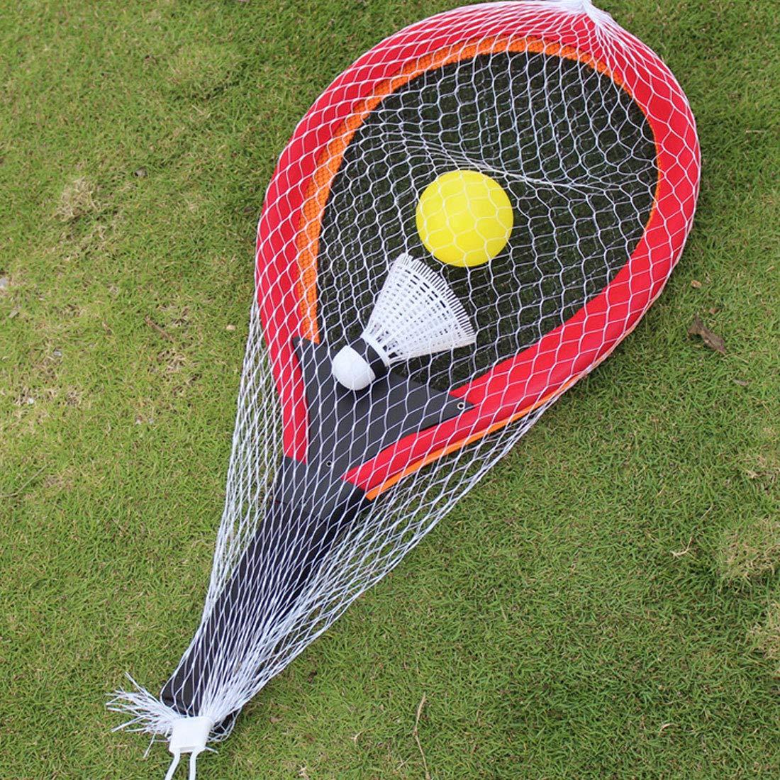 NoyoKere Badminton Tennis Raquette Set Sports de Plein air Parent-Enfant Sport Jouets /éducatifs B/éb/é Sport Rouge