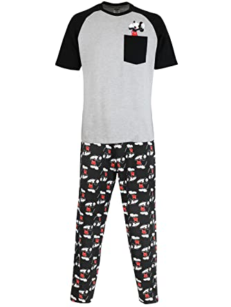 b40a433aebf Disney Mickey Mouse Mens Mickey Mouse Pyjamas  Amazon.co.uk  Clothing