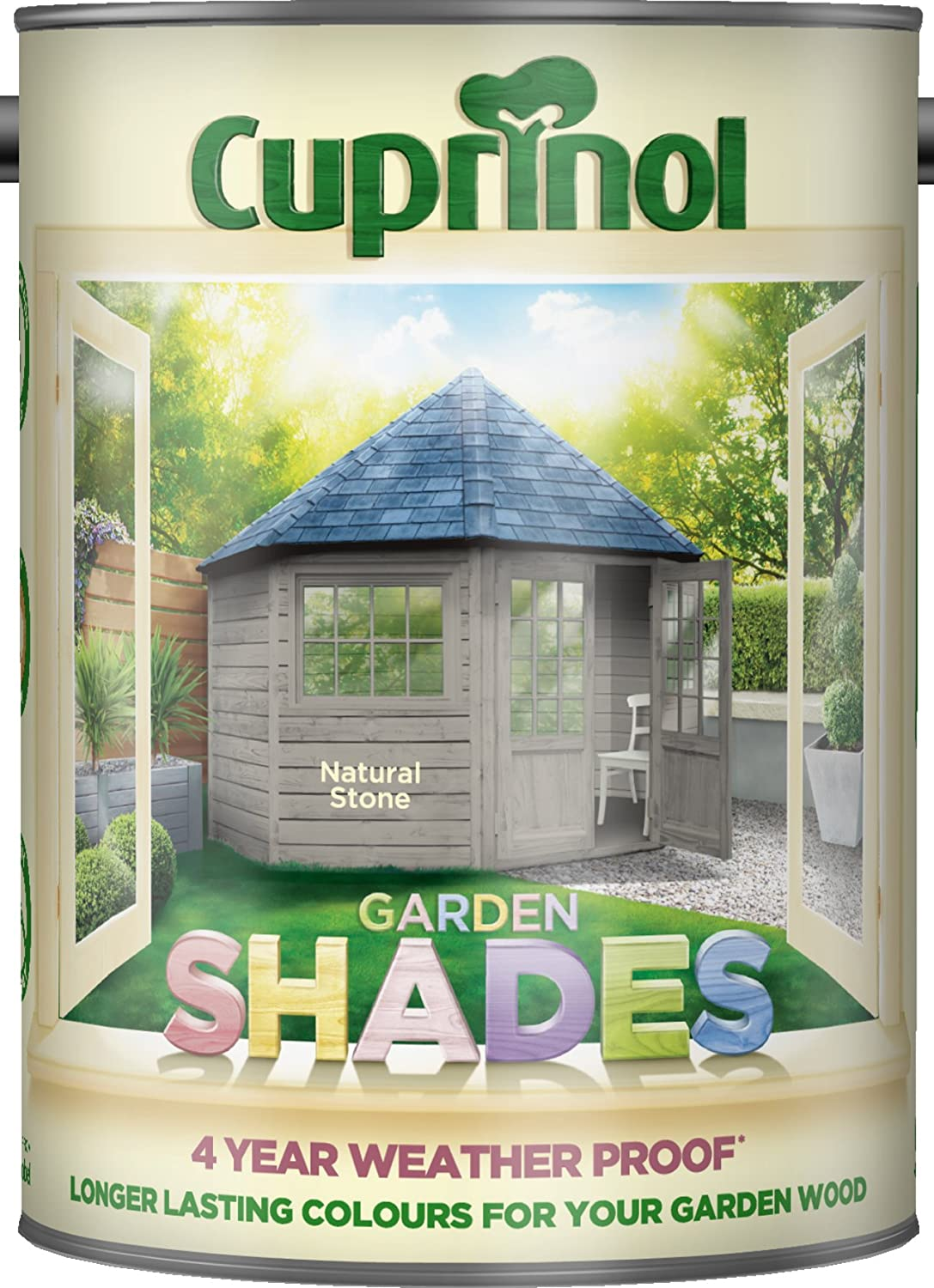 Cuprinol cupgsns5l 5 litre garden shades paint natural stone cuprinol cupgsns5l 5 litre garden shades paint natural stone amazon diy tools baanklon Image collections