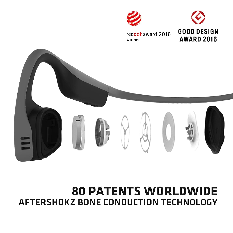 75daacdcfbc AfterShokz Trekz Titanium Bone Conduction Bluetooth: Amazon.co.uk:  Electronics