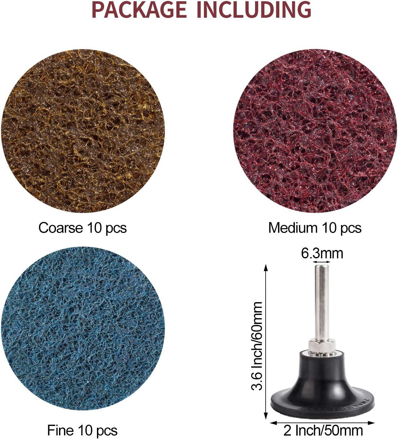 Disques /à Changement Rapide Disque de Pon/çage avec Support Rouleau de Verrouillage Surface Roloc /à changement Pour Enl/èvement de Peinture et Rouille de Surface de Meuleuse