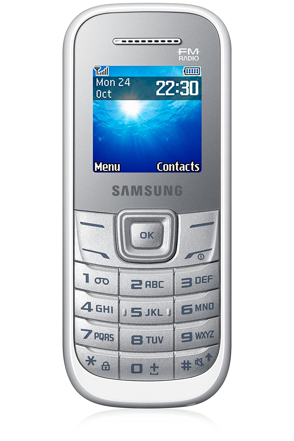 Amazon.com: Samsung GT-E1205L Keystone 2 Dual Band GSM Phone FM Radio, MP3  Ringtones and SMS - US Warranty - White: Cell Phones & Accessories