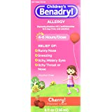 Children's Benadryl Allergy, Cherry Flavored Liquid 8 fl oz (Pack of 2)