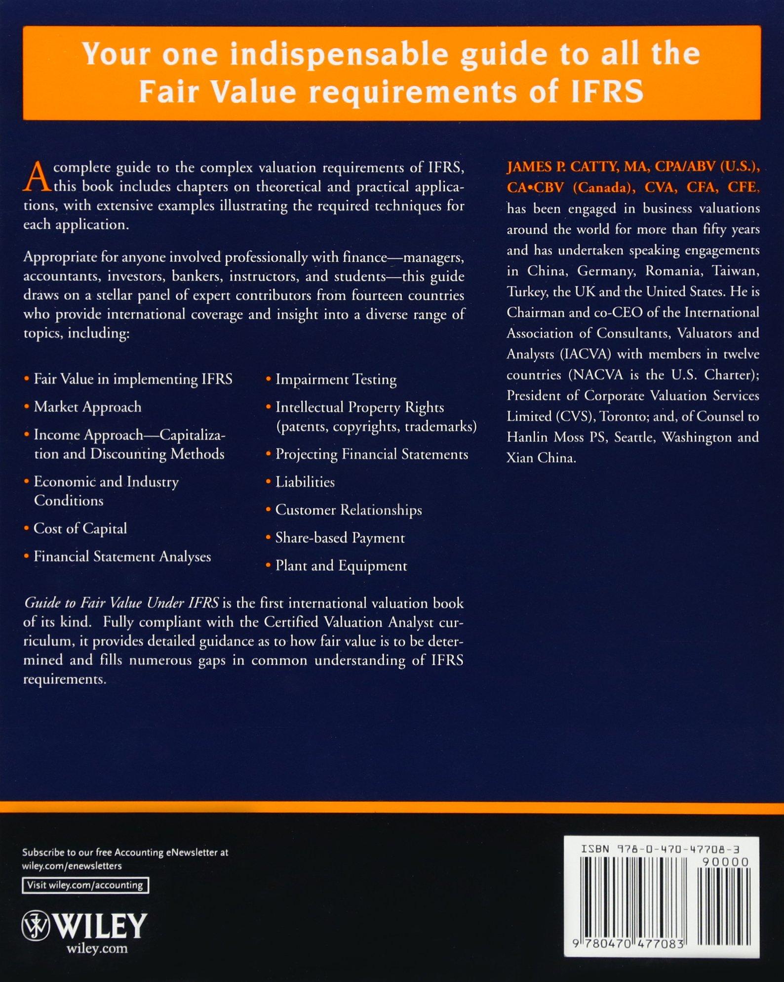 Wiley Guide to Fair Value Under IFRS: Amazon.de: James P. Catty:  Fremdsprachige Bücher