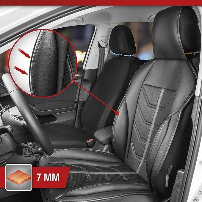 Walser 13985 Autositzauflage Kimi Universelle Sitzauflage Und Schutzunterlage In Schwarz Grau Sitzschoner Für Pkw Und Lkw In Rennsportoptik Auto