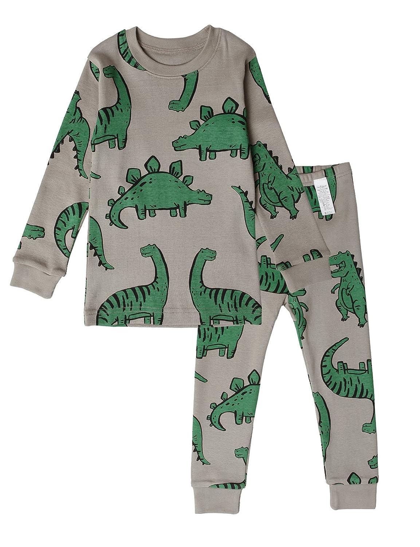 UniFriend Premium Dinosaur Boys'2 Piece 100% Cotton Pajama Set Size 18M~8Y