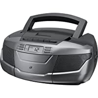 GPX BCA206S Portable AM/FM Boombox with CD and Cassette Player