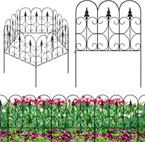 XCSOURCE Decorative Garden Fence Outdoor Coated Metal Folding Garden Fencing,Metal Path and Border Edging, Rustproof Landscape Border, Flower Bed Wire Section Fence for Patio Backyard - 24 32 inch