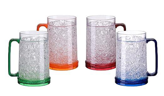 BC Inter - Juego de 4 tazas de gel para congelar y congelar (453 ...