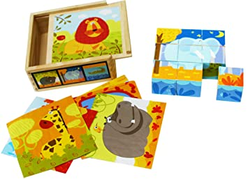 Toys Of Wood Oxford Wooden Blocks Cube Puzzles U2013 Wooden Cube Block Jigsaw  Puzzles 9 Cubes