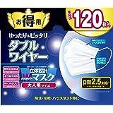 東京企画販売 立体設計Wワイヤーマスク お徳用120枚入 大人用