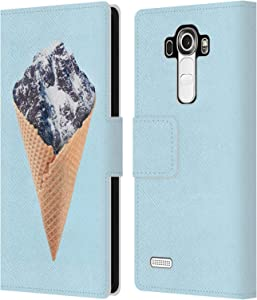Head Case Designs Officially Licensed Paul Fuentes Mountain Ice Cream Junk Food Leather Book Wallet Case Cover Compatible with LG G4 / H815 / H810