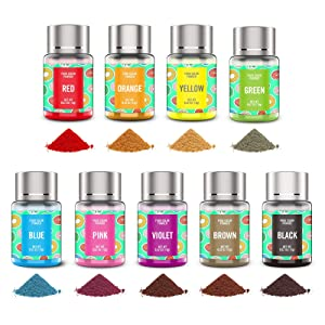 Powder Food Coloring 9 Colors Set - Upgraded Flavorless Concentrated Edible Powdered Food Color Dye Super Vibrant Water Based Neon Baking Colors for Kids Cake Decorating Icing Fondant Cookies Macaroon