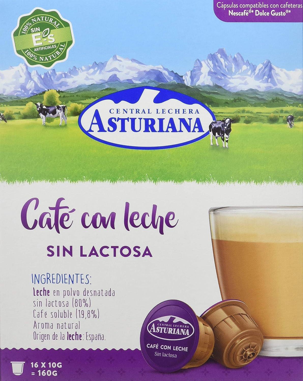Central Lechera Asturiana Cápsulas de Café con Leche Sin Lactosa ...