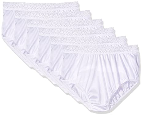 677e81c10ee Fruit of the Loom Womens 6-Pack Nylon Brief Panties at Amazon Women s  Clothing store