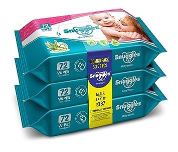 Amazon.com: Snuggles - Toallitas húmedas para bebé con aloe ...