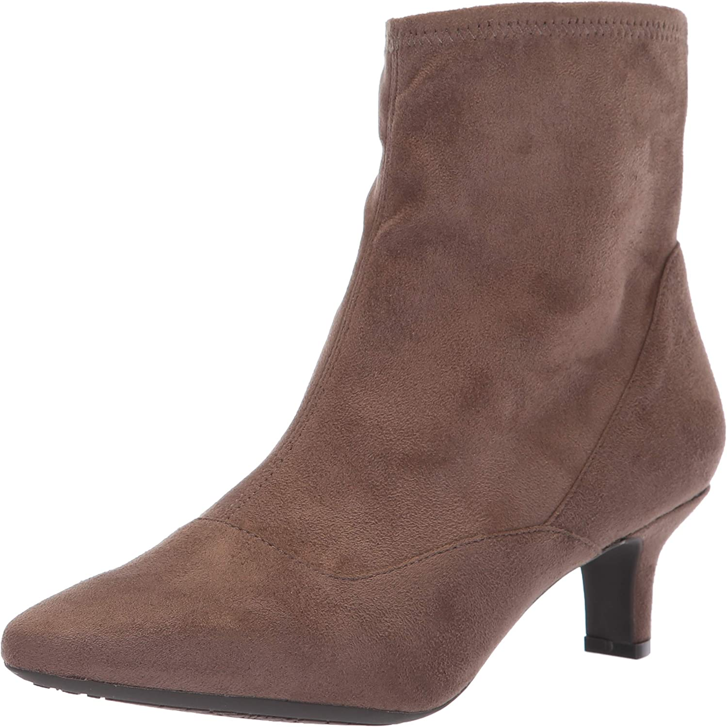 Rockport Women's Kimly Bootie Stretch Ankle Boot Microsuede
