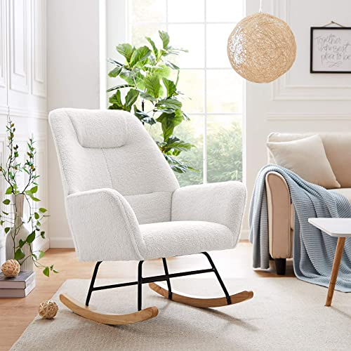 Best living room chair: Tribesigns Solid Wood Rocking Chair Armchair