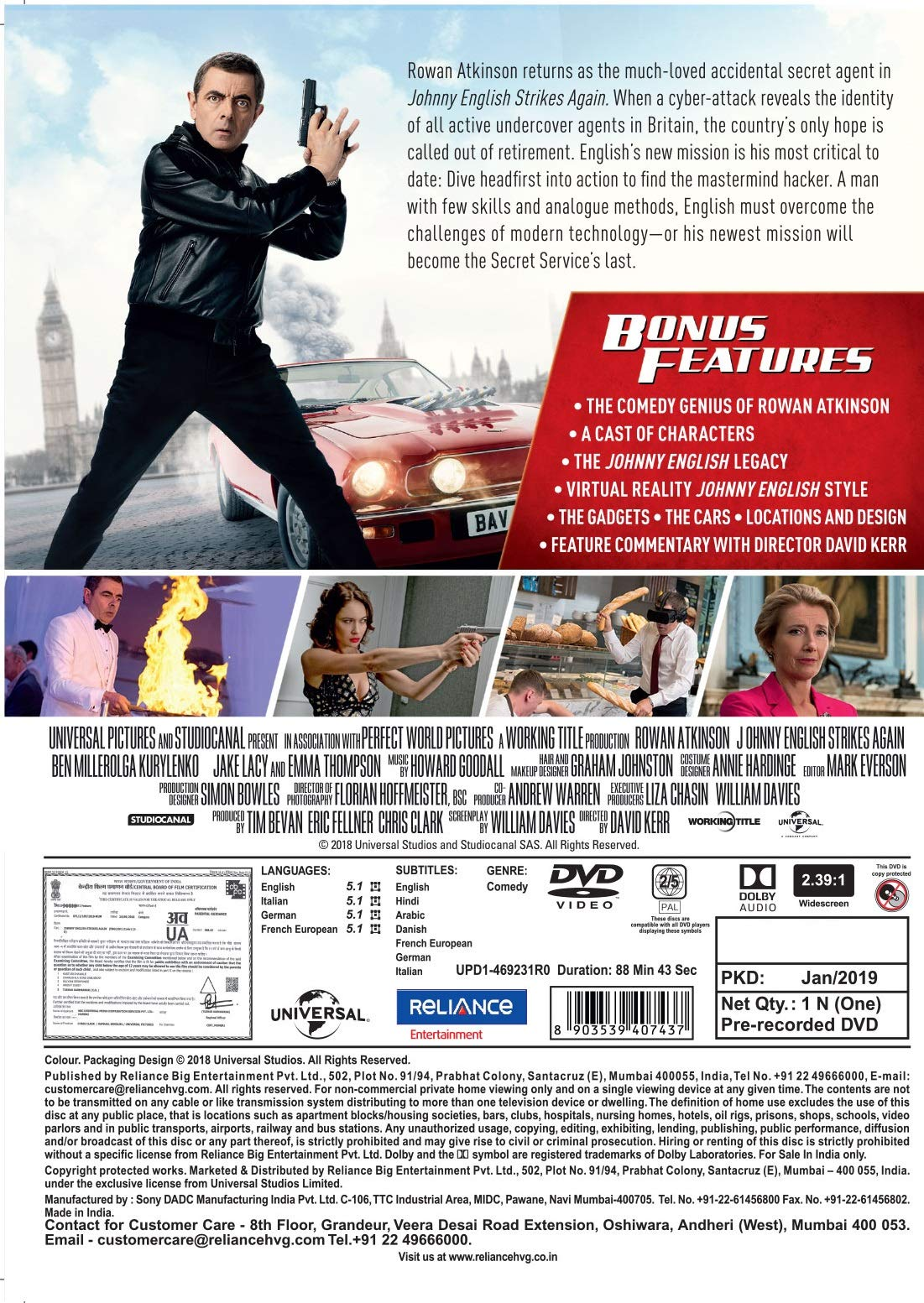 Johnny English Strikes Again Buy Online In Saint Vincent And The Grenadines At Desertcart