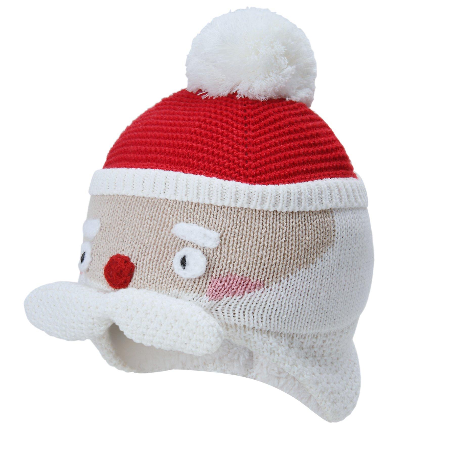 vivobiniya Kid Girl Winter Knitted Cap Baby GILR Earmuffs Cap Lovely 0-6years Old (2-6years Old(Head Girth 19.6in-21.2in))