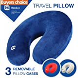 TODAY 70$ OFF!!!! Premium Airplane Neck Pillow - Your Best Neck Pillows for travel on a Train, Airplane, Car, Bus or Camping. Neck Support Pillow made of Memory Foam