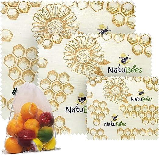 Ecológicas y reutilizables envoltorios de comida de NatuBees ...